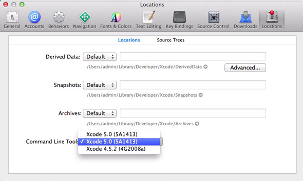 xcode5 command line tools Homebrew   менеджер пакетов для OS X Mavericks 10.9