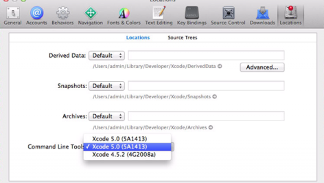 xcode5 command line tools 472x266 xcode5 command line tools